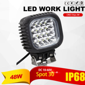 CREE 48W LED Work Light (Spot Beam, 4200lm, IP68 Waterproof)