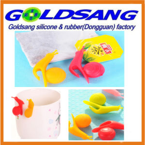 Green Life Little Snail Shape Silicone Tea Bag Holder pictures & photos