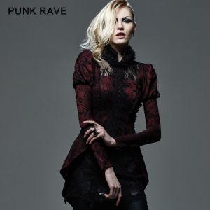 2015 Autumn New Design Punk Rave Red Women Coat (Y-585) pictures & photos