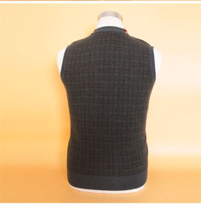 Yak Wool/Cashmere V Neck Cardigan Waistcoat/Garment/Clothing/Knitwear pictures & photos