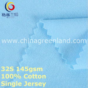 Cotton Single Jersey Knitted Fabric for Garment Shirt (GLLML377) pictures & photos