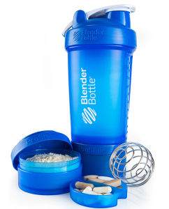 Plastic Blender Shaker Bottle with 2 Containers pictures & photos