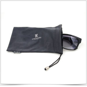 Popular Double Side Drawstring with Beads Microfiber Eyeglasses Pouch pictures & photos