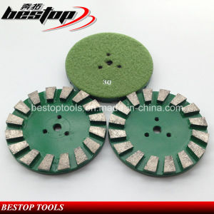 D125mm Granite and Marble Diamond Grinding Disc with Velcro Backing pictures & photos