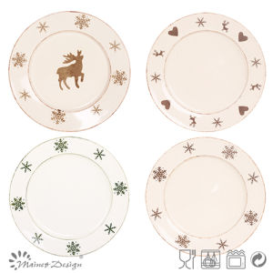 Christmas Design Ceramic Stoneware Plate pictures & photos