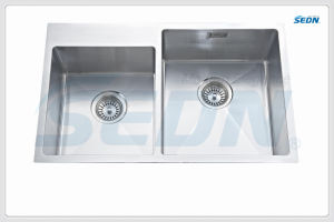 Handmade Double Bowl Stainless Steel Sinks (SB2009R) pictures & photos