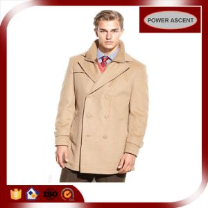 Wholesale Latest Design Double-Breasted Peacoat for Men pictures & photos