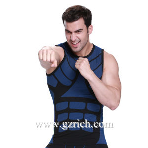 Men′s Slimming Body Shape Tops Outdoor Quick Dry Vest pictures & photos