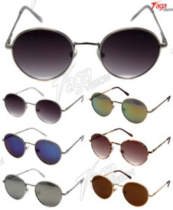 Classical and Charming Round Metal Sunglasses