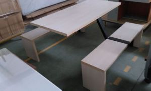 Cheap Steel Wood Fast Food Restaurant Table and Chairs pictures & photos