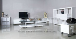 Woode UV High Gloss White Coffee Table with Tempered Glass Top (5097) pictures & photos