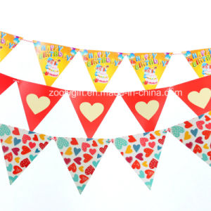 Printing Paper Banner Die--Cut Custom Paper Banner Decoration pictures & photos