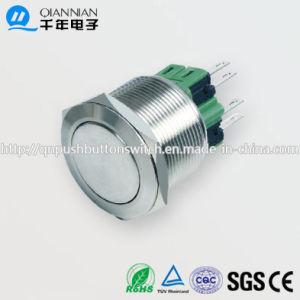 25mm 1no Nc/2no 2nc Resetable Self-Locking Flat Ringilluminated IP67 Ik10 Push Button Switch pictures & photos