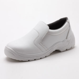 White Industrial Working Leather/PU Waterproof Safety Shoes pictures & photos