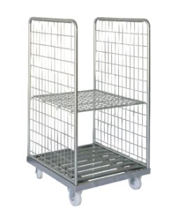 Metal Wire Hand Trolley with Wheels pictures & photos