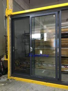 Powder Coated Dark Grey Aluminum Sliding Door with Crimsafe Screen for Australia Market pictures & photos