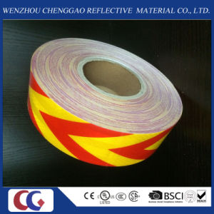 Pet High Quality Yellow and Red Arrow Reflective Material Tape pictures & photos