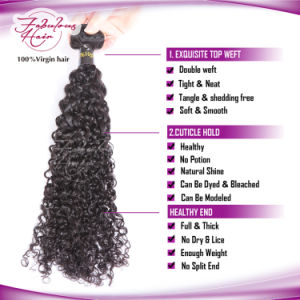 Biggest Supplier 7A Virgin Brazilian Curly Hair Extension Human Hair pictures & photos