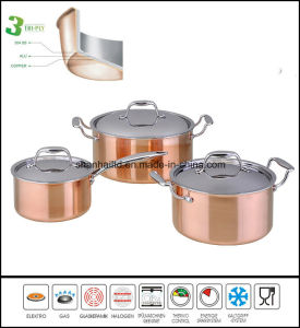 3ply Copper Cookware Kitchenware pictures & photos