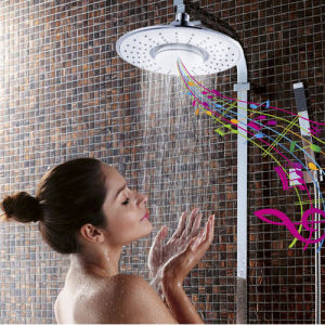 8 Inch ABS Shower Head with Waterproof Bluetooth Speaker pictures & photos