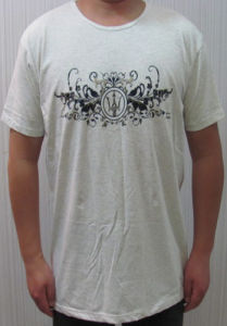 Bamboo Men′s Heather White T-Shirt pictures & photos