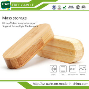 4GB Rotating Wooden Bamboo USB Flash Drive Memory Stick pictures & photos