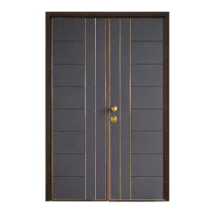 Steel-Wood Security Double Leaf Door pictures & photos