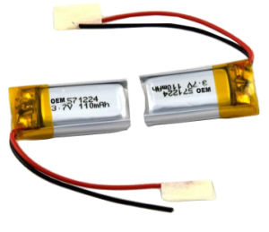 Lipo Battery 571224 3.7V 110mAh Samll and Slim Lithium Polymer Battery pictures & photos
