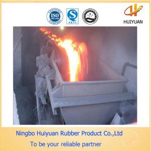 Heat Resistant Rubber Conveyor Belt 300 Degree for Steel Works pictures & photos