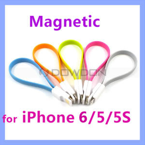 Flat Magnetic Lightning 8 Pin USB Sync Data Charging Cable for iPhone 6 5 5s 5c iPad 4 iPad Mini pictures & photos