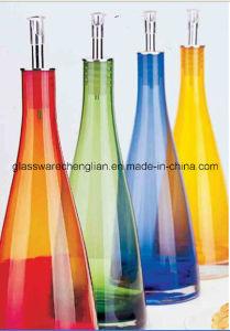 1L Colorful Glass Oil Bottle (J-10) pictures & photos