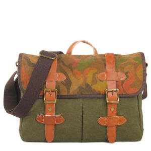 Printing Canvas Leather Man Handbag Shoulder Bag (RS-1995A) pictures & photos