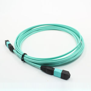MPO/MTP Om3 Fiber Optic Cable Patchcord pictures & photos