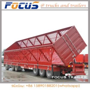 3 Axle 60t Heavy Side Tipper/Dumper Semi Trailer for Sand Coal Transport pictures & photos
