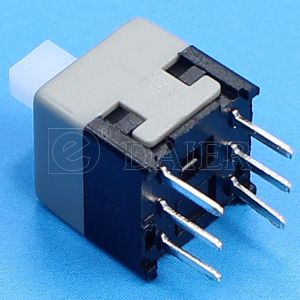 Dpdt PCB Push Button Power Switch (KFC8.5X8.5-A) pictures & photos