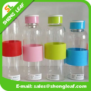 The New Double Glass Candy Color Plastic Drinking Water Bottle (SLF-WB025)