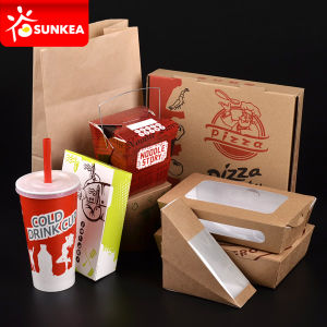 Printed Paper White Takeaway Packaging pictures & photos