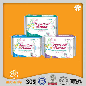 High Quality Super Soft Mesh/ Cotton Anion Sanitary Napkin pictures & photos
