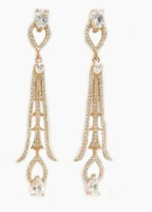 Wholesale Jewelry Fashion Fringed for Woman White CZ 18k White Gold Filled Trendy Dangle & Chandelier Earrings Gift E6646 pictures & photos