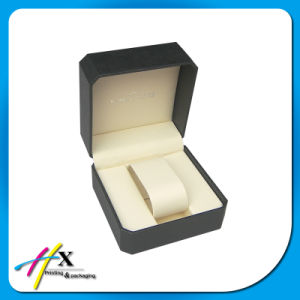 Special Leather Paper Veneer Single Watch Box Plastic Watch Packaging Box pictures & photos