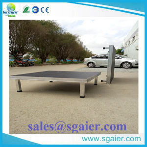 Good Load Capacity Mobile Stage with 1X1m, 1.22m X1.22m Size Hotel Stage pictures & photos