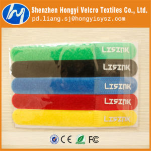 Printed Nylon Magic Tape Cable Tie with Custom Logo pictures & photos