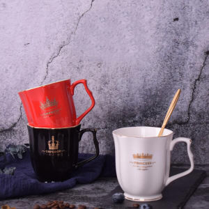 10 Oz Gold Color European Ceramic Coffee Mug Luxury Porcelain Coffee Cup pictures & photos