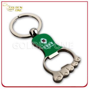 Printed Nickel Plated Foot Shape Metal Bottle Opener Key Ring pictures & photos