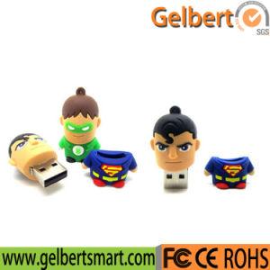 Hot Sale Custom PVC Super Man Shape USB Memory Stick pictures & photos