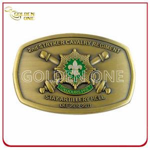 High Quality Antique 3D Soft Enamel Metal Belt Buckle pictures & photos