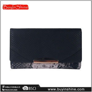 Animal Skin Faux Leather Women Clutch Hand Bag