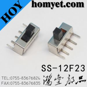 3pin DIP Power Slide Switch/Small PCB Slide Switch (SK-12F14) pictures & photos