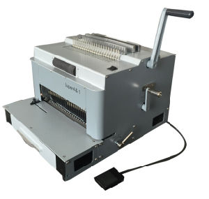 New Design Multifunction Punching and Comb Wire Spiral Coil Binding Machine (SUPER4&1) pictures & photos
