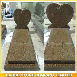 Granite Kerbed Memorial Heart Shape Headstone pictures & photos